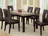 BRAND NEW DINING ROOM SET WITH SIX CHAIRS.... CAN