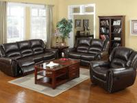Stacy Reclining Collection * Covered in genuine bonded