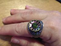 Brand New Finger Candy Multicolor Swarovski Crystal