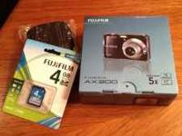 Brand new, in the box Fujifilm Finepix AX300 with new
