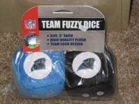 "Brand New, NFL Licensed Carolina Panthers 3"" each high"