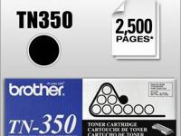 Genuine Brother TN-350 2-pak Toner Cartridges that