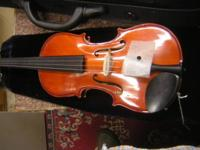 Great violin, new case,wood bow, rosin. Suitable for