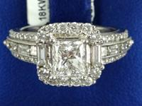 Ring crafted in 18k White Gold.  FACILITY DIAMOND 1.01