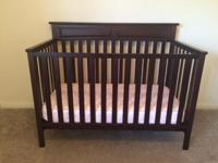 MUST GO MAY 27th!!! Beautiful Cherry wood crib,