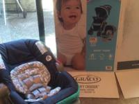 New brand GRACO infant car seat with base. We purchased