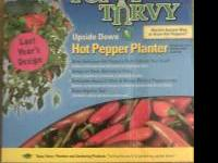 brand new in box topsy turvy hot pepper planter! plants