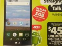 BRAND NEW IN THE BOX LG SUNSET 4G LTE FOR STRAIGHT TALK