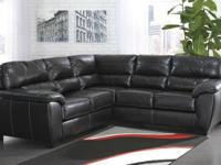 ** BLACK OR STONE PREMIUM NATURAL LEATHER SECTIONALS **