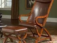 Beautiful Lavish Comfort Leather Chair with Matching