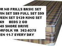 SPECIAL SALE BEDS 2 GO 9545 SHORE DRIVE NORFOLK VA