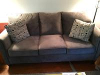 This is a brand new microfiber sofa (3 months old). It