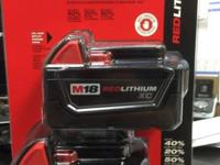 BRAND NEW IN BOX NEVER OPENED MILWAUKEE BATTERIES M18 -