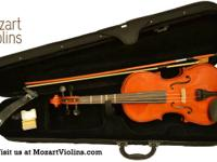 Mozart Violins Model 12 Violin  -Includes case, bow,