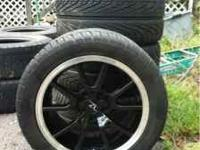 Hey guys I got brand new black 17x9 fr500 mustang rims.