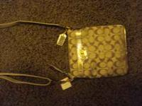 Gold Cross Body Bag New with tag, Never used Call or