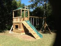Brand new playsets built new in your yard. All prices