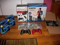 Brand new Sony Playstation 3 with a lot of extras. Box