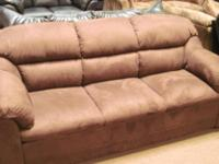 Brand New PLUSH MICROFIBER Sofa And Loveseat/ with