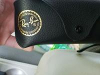Brand new pair of ray bans. Comes with the leather case