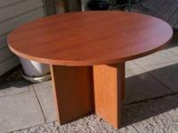 Brand new round conference table, great for kitchen