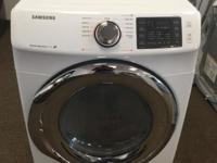 "Samsung DV42H5200GW 27"" Front-Load Gas Dryer with 7.5"