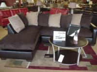 Beautiful Mocha and Chocolate Sectional now available.