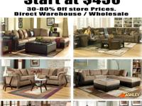 Brand new sectional sets starting at $500 with warranty