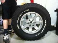 I have a like new set of BFGoodrich All-Terrain tires.