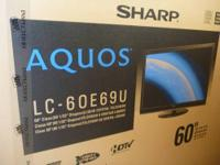 "BRAND NEW Sharp AQUOS 60"" LCD 1080p, 120Hz HDTV This is"