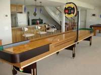 Premium Grade Shuffleboard Table with 3 inch butcher