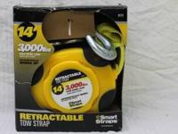 SmartStraps 14' 9000 lbs. Retractable Tow Strap, Yellow