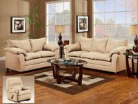 1150 SOFA SET * Covered in a super soft microfiber. *