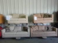 We have sofa and loveseat BRAND NEW IN PLASTIC!! COME