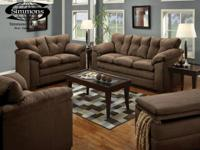 This stylish rich chocolate brown Simmons microfiber