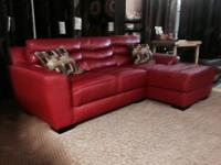 Beautiful Sofa with chaise lounge built in. This is a