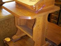 Offered is a NEW Flip Leading Telephone Table. Made of