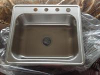 New, still in box, IKEA single bowl stainless steel