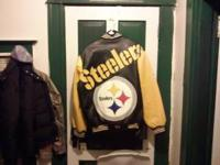 I have a BRAND NEW steelers heavy leather jacket. It
