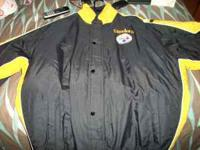 BRAND NEW STEELERS COAT NEVER WORN SIZE XXL $25 CALL