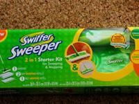 Swiffer Sweeper floor sweeper attracts and traps dirt