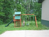 . This lovely swing set was purchased for my kids'