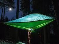 Awesome tree tent. Tentsile's Stingray model. Suspends