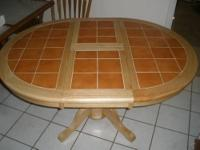 "We Bought this ""Brand-New"" (Tile Top) Pedestal Table We"