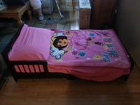 Brand new toddler bed!!!! dark cherry wood frame with