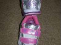 Disney Fit Tennis Shoes Tinkerbell Light Up Toddler