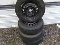 New toyo eclipse tires mounted on steel wheels off of a