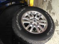 "Goodyear Wrangler Tires on 18"" aluminum rims. (275 65R"