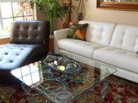 Here Is A Brand New Three Piece Pearl Leather Sofa Set.