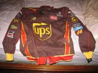 A Brand NEW UPS Racing Jacket -- size ADULT LARGE --